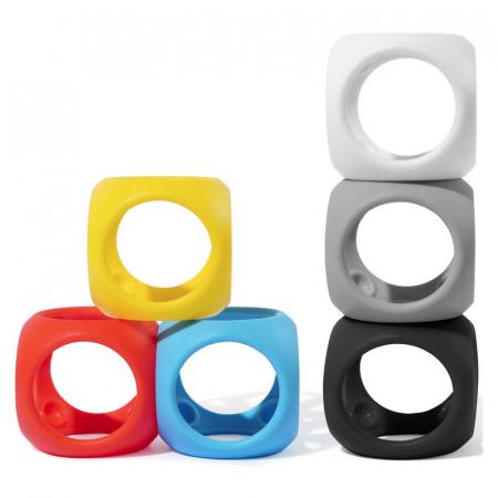 Oibo - set 3 jucarii senzoriale flexibile - Monocrom4