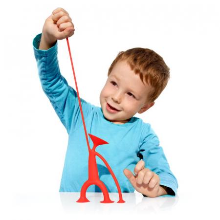 Oogi - Omuletul flexibil cu ventuze - Rosu1