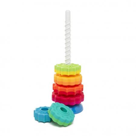 Piramida cu rotite pentru bebelusi - Fat Brain Toys2