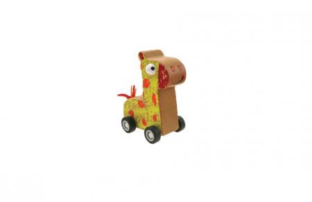 Prietenii mei cu roti - Animalute din lemn cu roti sistem pullback - 6 variante4