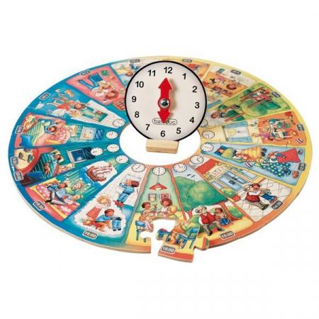 Puzzle circular Invata ceasul [2]