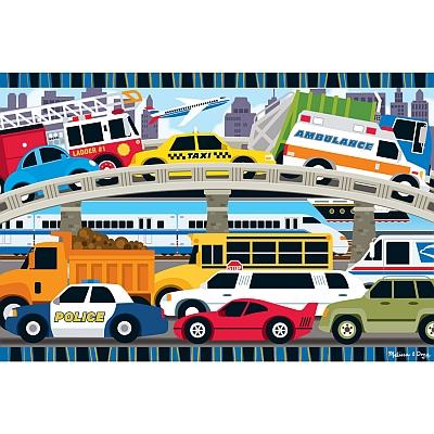 Puzzle de podea Blocaj in trafic1