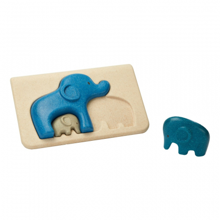Puzzle din lemn cu elefanti [0]