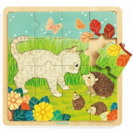 Puzzle incastru de lemn - Jungla animalelor1