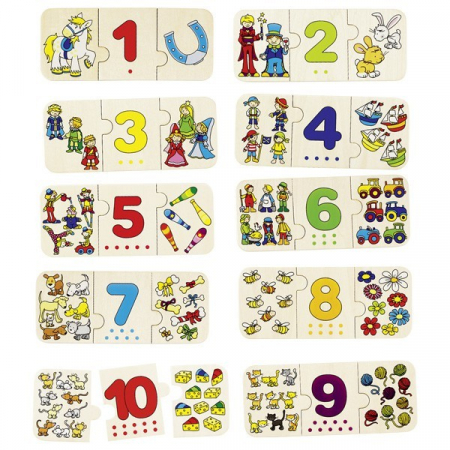 Puzzle lemn cu autocorectie invata Numerele0