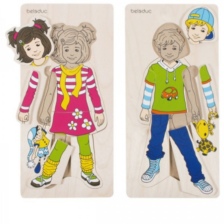 Puzzle lemn Imbracam copiii [0]