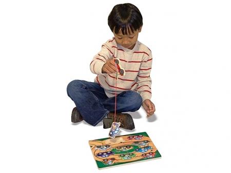 Puzzle lemn magnetic Remorcherul1