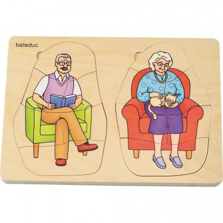 Puzzle stratificat Bunica si Bunicul [1]