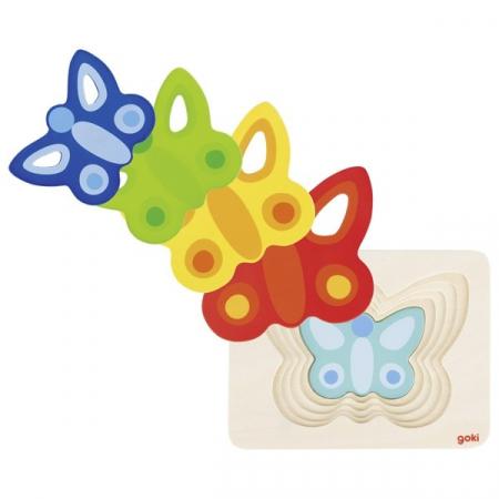 Puzzle incastru Fluturasi colorati [2]