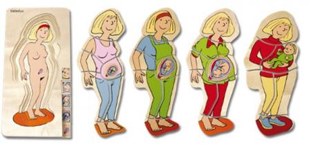 Puzzle stratificat Mama si Copilul1