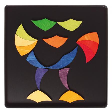 Roata curcubeu- puzzle magnetic5
