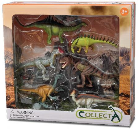 Set 6 figurine Dinozauri pictate manual WB Collecta
