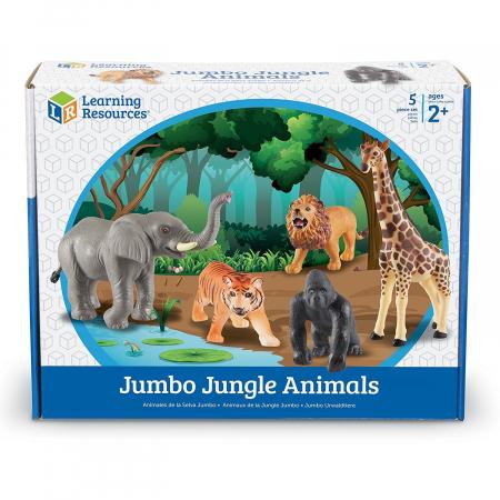 Set animale jungla - figurine mari pentru bebelusi3