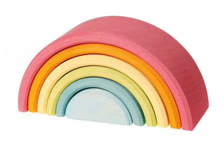 Set curcubeu 6 piese pastel0