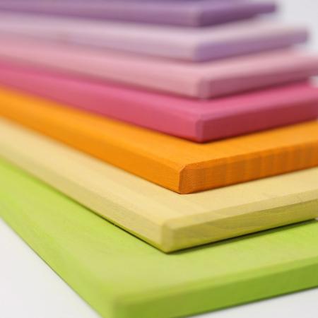 Set de constructie cu 11 placi model pastel1