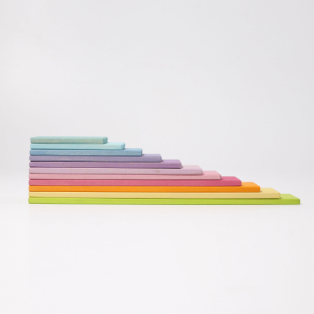 Set de constructie cu 11 placi model pastel9