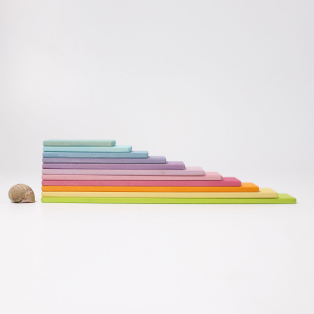 Set de constructie cu 11 placi model pastel8
