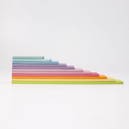 Set de constructie cu 11 placi model pastel4