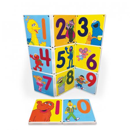 Set de constructie piese magnetice Autobuzul scolar Sesame Street CreateOn Magna-Tiles - Set 14 piese magnetice9