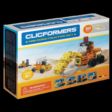 Set de construit Clicformers- Mini set cu vehicule de santier0