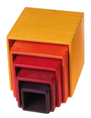 Set de cutii colorate galben1