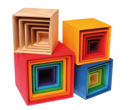 Set de cutii colorate galben3