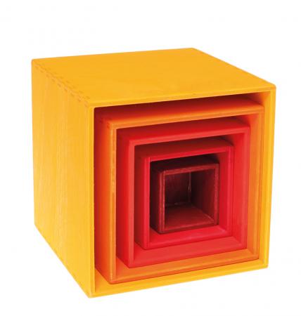 Set de cutii colorate galben0
