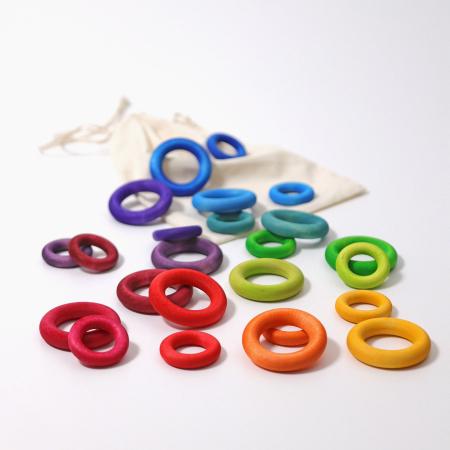 Set de ineluse colorate curcubeu0