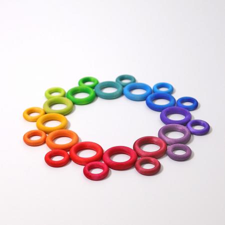 Set de ineluse colorate curcubeu1