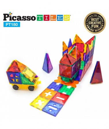Set PicassoTiles Deluxe Combo - 180 Piese Magnetice De Constructie Colorate [3]
