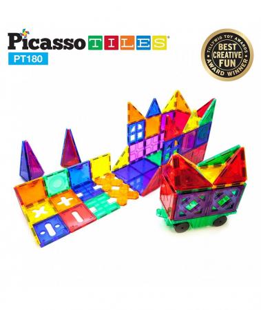 Set PicassoTiles Deluxe Combo - 180 Piese Magnetice De Constructie Colorate [2]