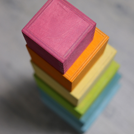 Set mare de cutii colorate pastel [5]
