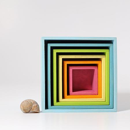 Set mare de cutii colorate pastel [4]