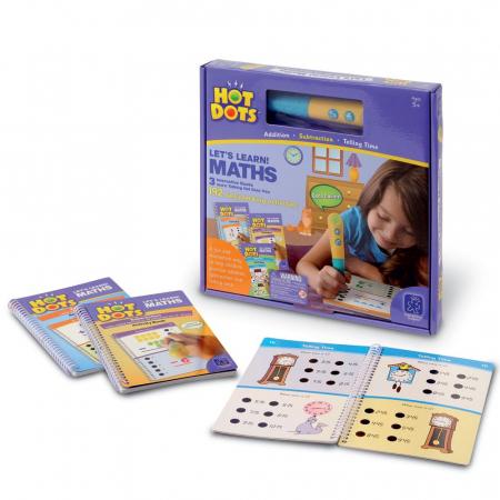 Set matematica - 3 carti de activitati si un stilou vorbitor HotDots0
