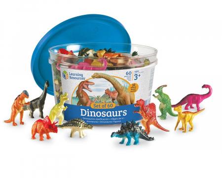 Set pentru sortat - Dinozauri jucausi - 60 piese