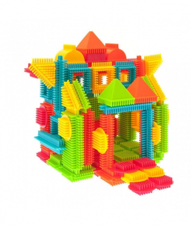 Set PicassoTiles Basic Bristle Shape Blocks - 120 de forme de constructie ce se intrepatrund [3]