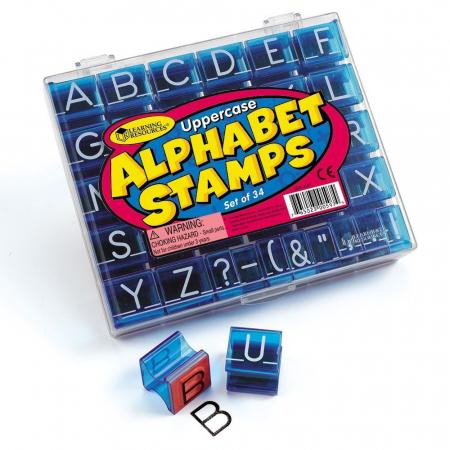 Set stampile Alfabet - litere de tipar0