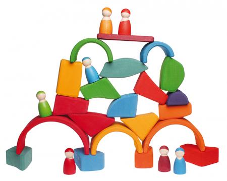 Set Waldorf de constructie cu 15 forme neregulate4