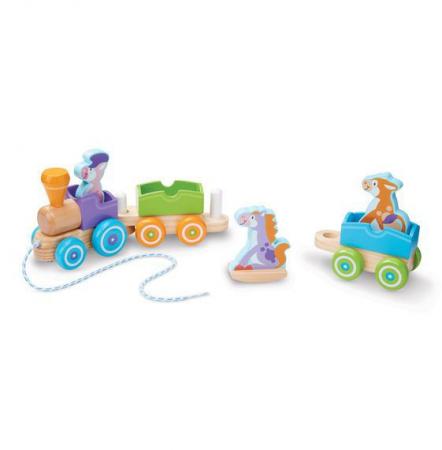 Trenulet din lemn cu animale [2]