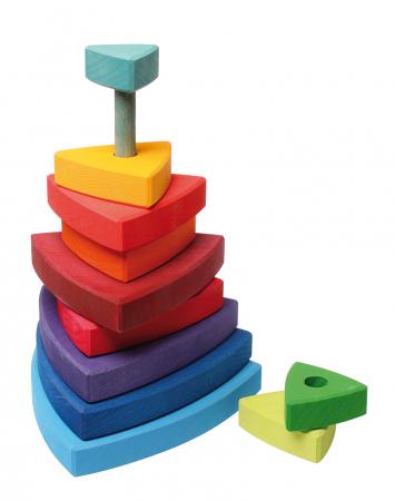 Turn de stivuit cu triunghiuri pentru bebelusi [3]