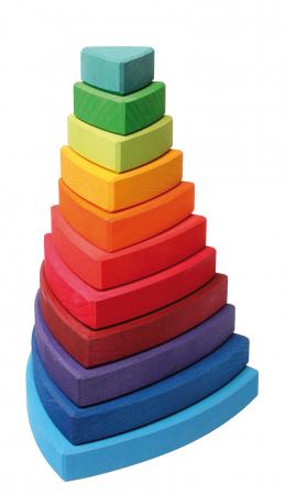 Turn de stivuit cu triunghiuri pentru bebelusi [0]