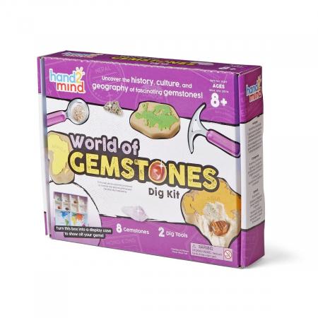 Lumea pietrelor pretioase - Set geologie pentru copii