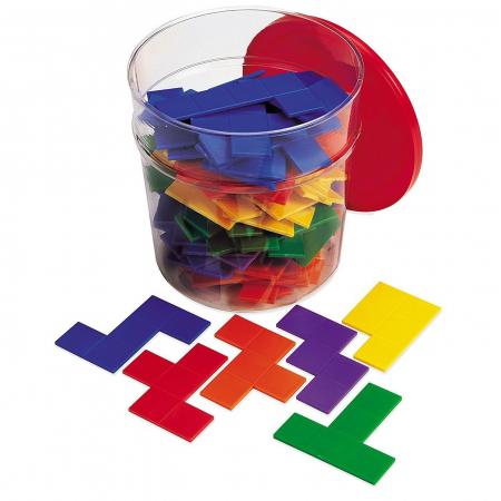 Piese tetris curcubeu - Pentomino - jucarie educativa0