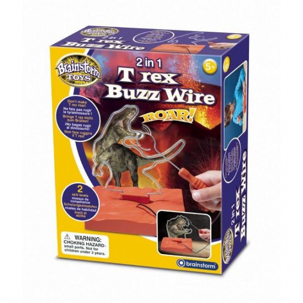 2 in 1 T Rex Buzz Wire Brainstorm Toys E2049 0
