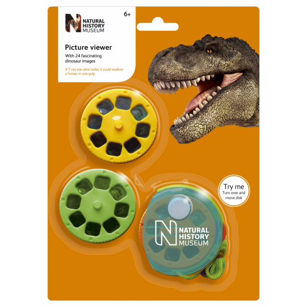 Aparat de vizualizat diapozitive cu dinozauri Natural History Museum N5102 0