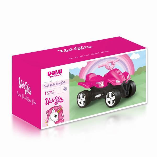 ATV cu pedale roz - Unicorn 0