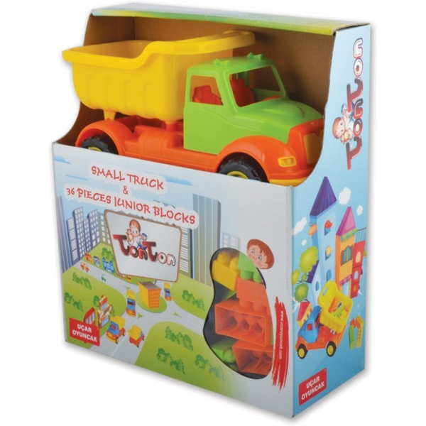 Autobasculanta 30 cm cu 36 piese constructie Ucar Toys UC103 4