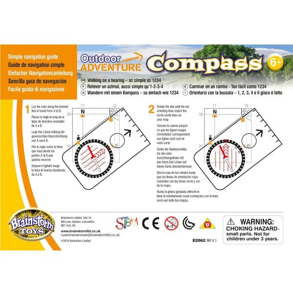 Aventuri in aer liber – Compass Brainstorm Toys E2062 5