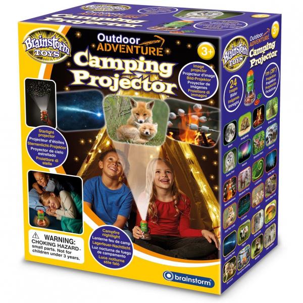 Aventuri in aer liber – Proiector si lampa de veghe pentru Camping Brainstorm Toys E2060 0