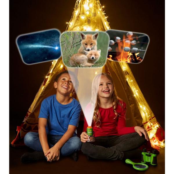 Aventuri in aer liber – Proiector si lampa de veghe pentru Camping Brainstorm Toys E2060 3